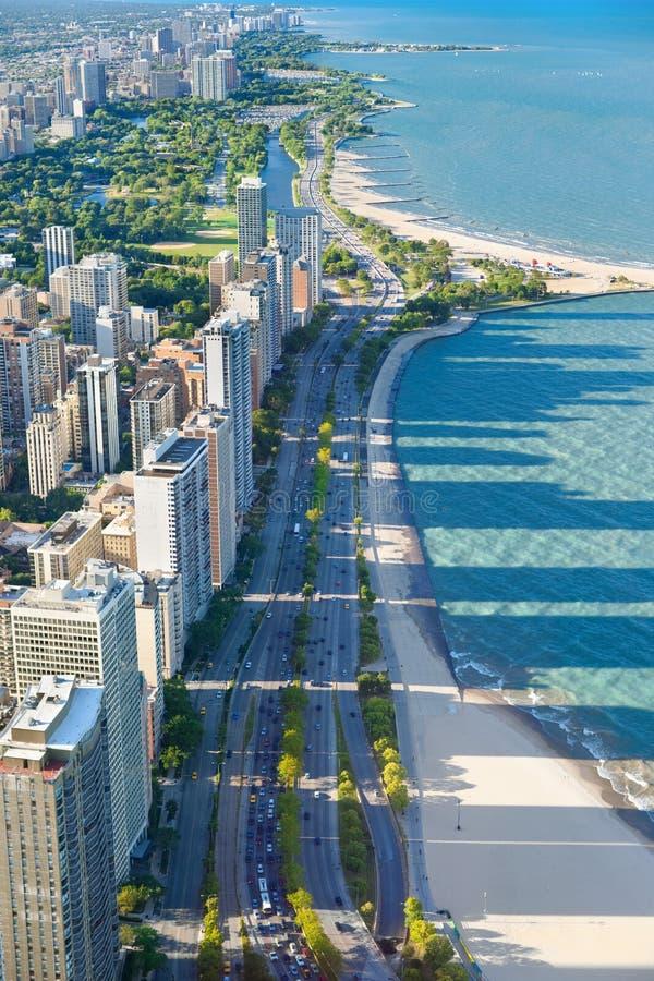Chicago von der Hancock-Mitte stockfotos