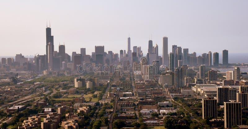 Chicago von der Luft stockfotos