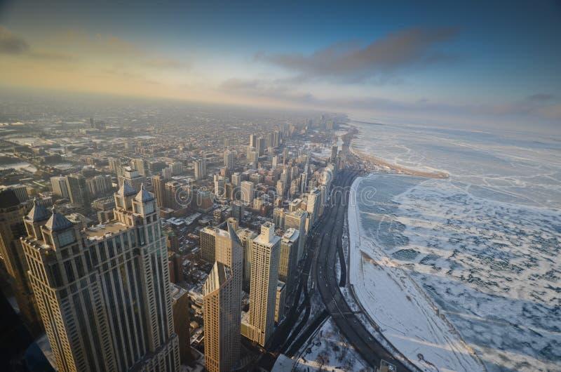 Chicago von oben stockbilder