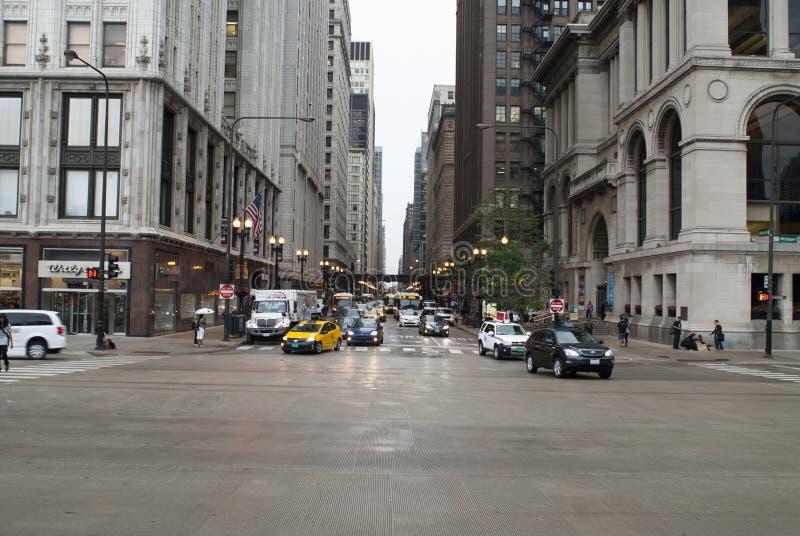 Chicago W Washington Street arkivbild