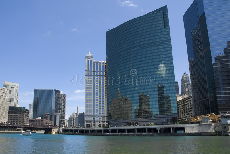 Chicago Wacker Drive stock photos