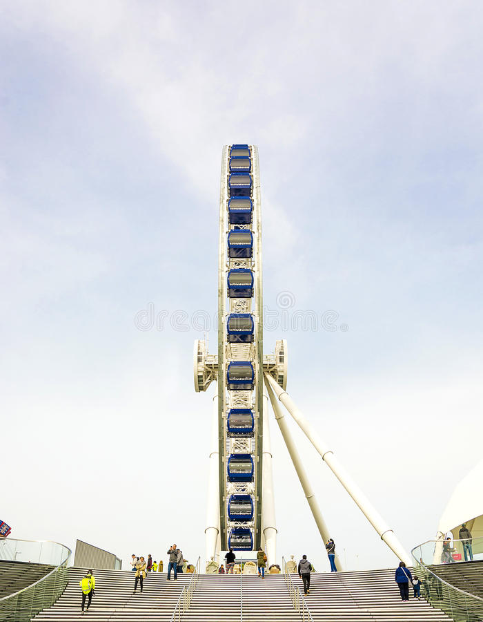 Chicago wheel at Navy Pier. Chicago, IL, USA, october 28, 2016: Chicago Ferris Wheel Ride at Navy Pier Chicago IL USA stock photos