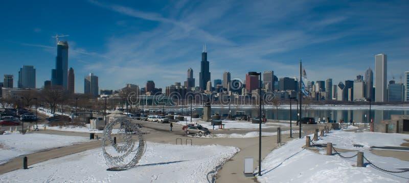 Chicago Winter (panoramic) Royalty Free Stock Photos