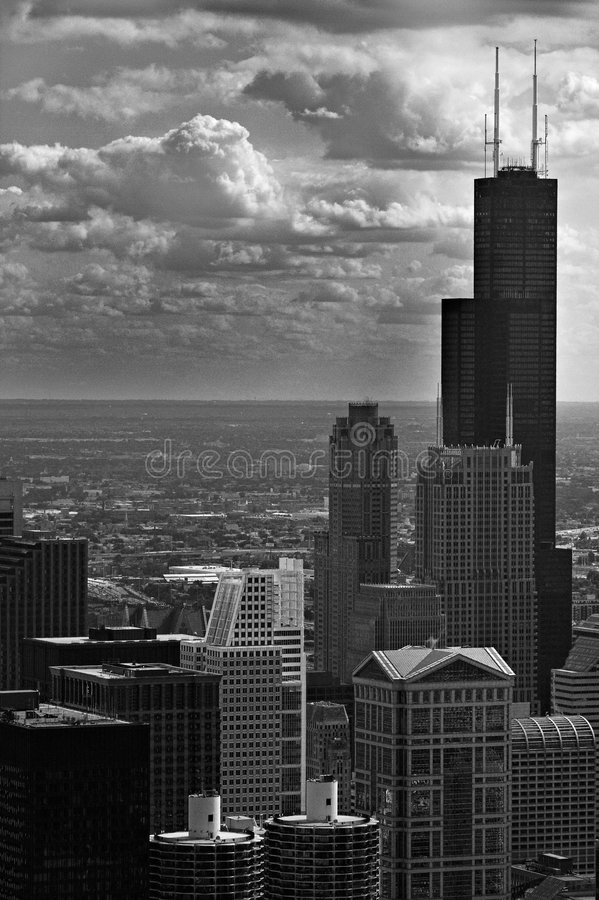Chicago-Wolkenkratzer stockfotos