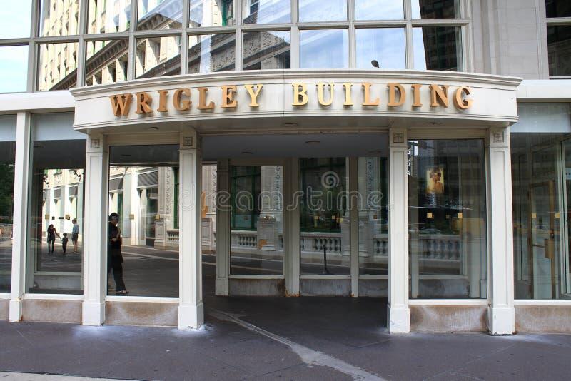 Chicago - Wrigley byggnadsingång royaltyfria foton