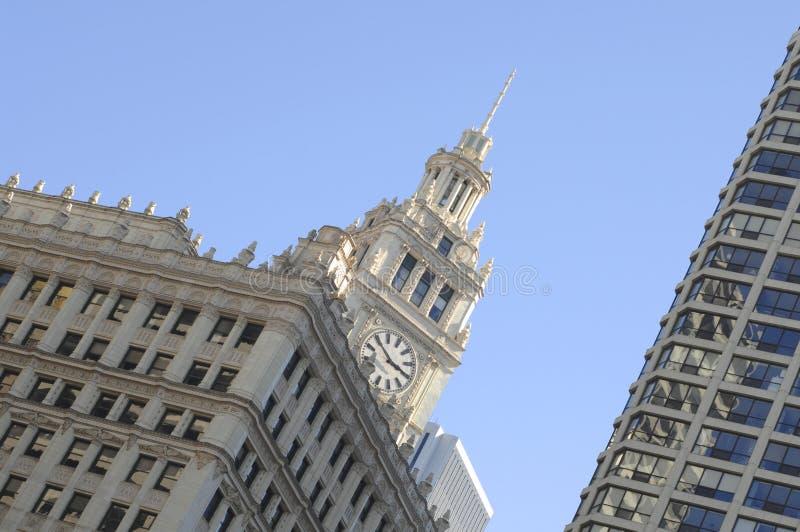Chicago, Wrigley-Gebäude stockfotos