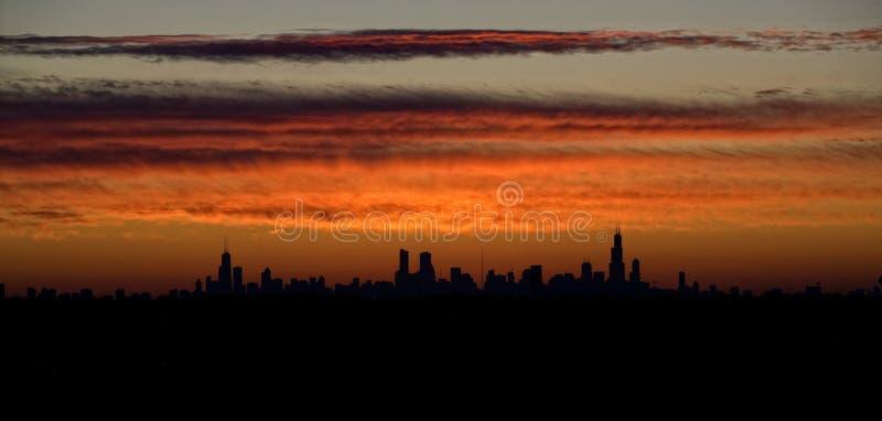 chicago wschód słońca fotografia stock