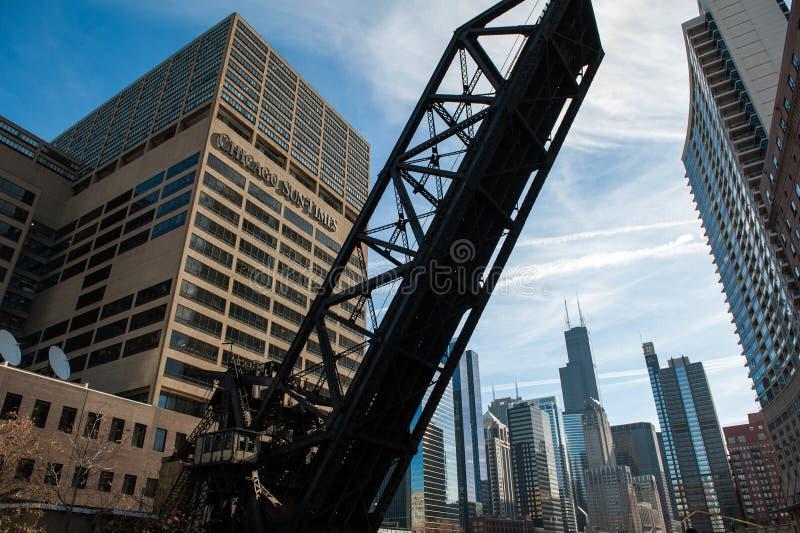 Chicago y puente ferroviario del noroeste fotos de archivo libres de regalías