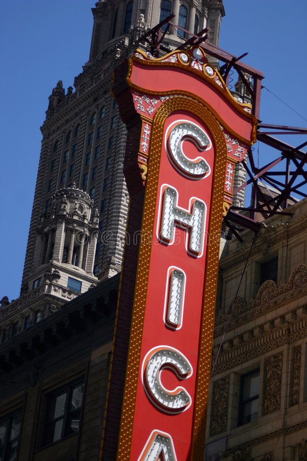 Chicago-Zeichen stockfotografie