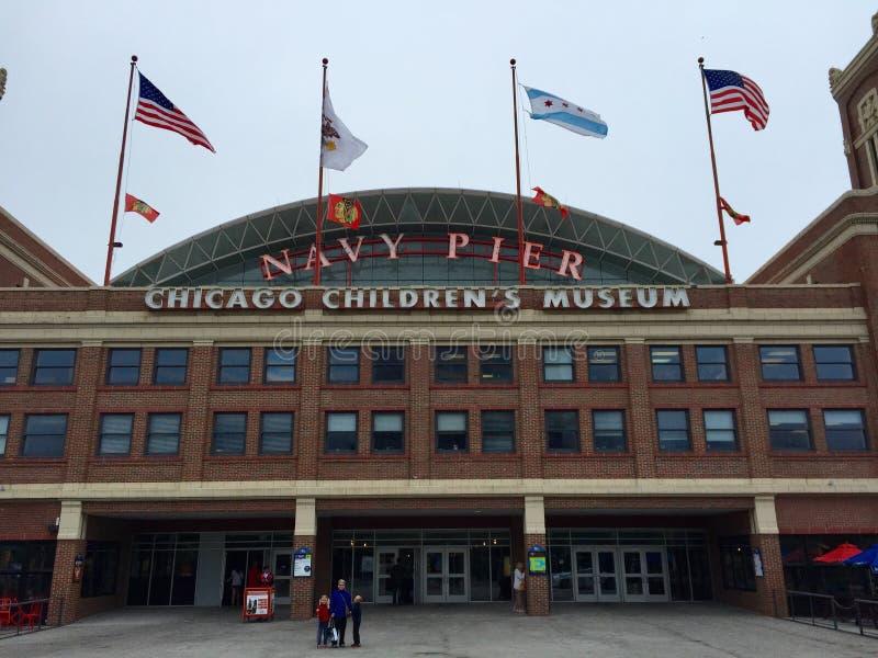 Chicagowscy Children Muzealni Na deszczowym dniu zdjęcie stock