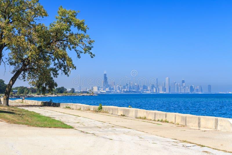 Chicagowska deptak linia horyzontu obraz stock