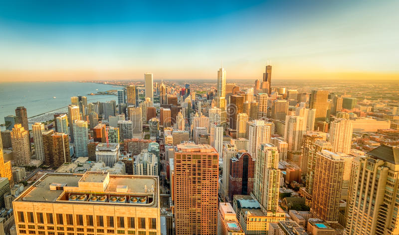 Chicagowska panorama obraz royalty free