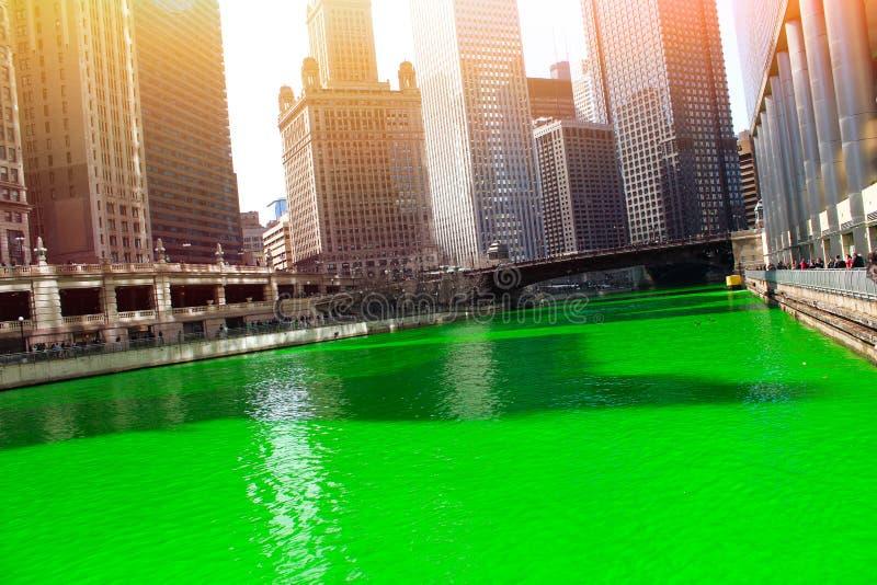 Chicagowska rzeka zdjęcie stock