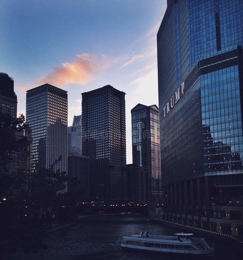 Chicagowska rzeka zdjęcie royalty free