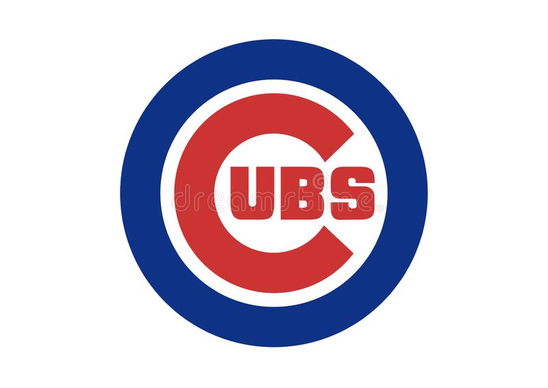 Chicagowski Cubs logo royalty ilustracja