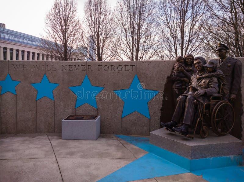 Chicagowski departamentu policji ` s Żywy pomnik w Chicago obraz stock