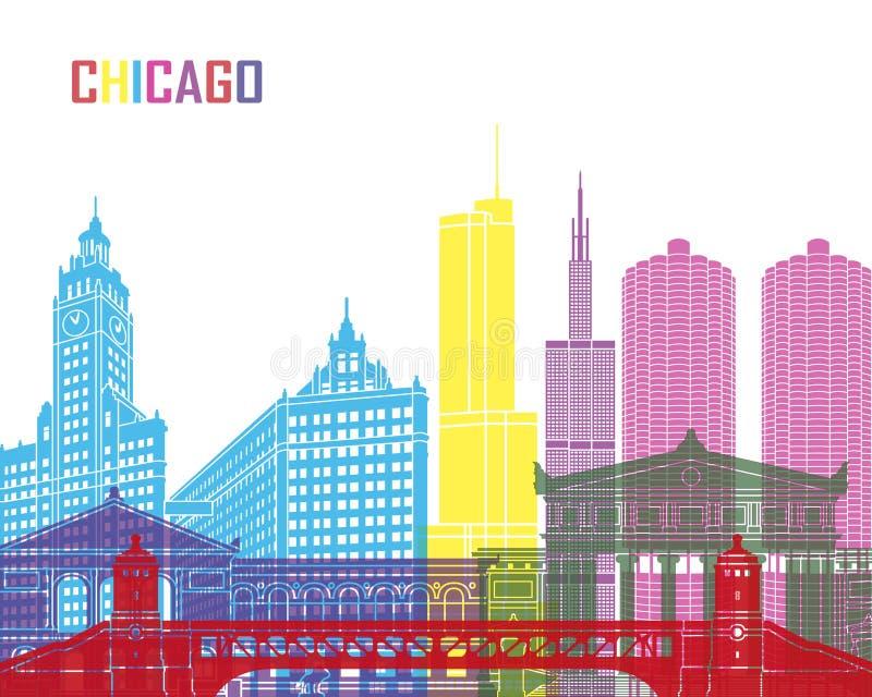 Chicagowski linia horyzontu wystrzał ilustracji