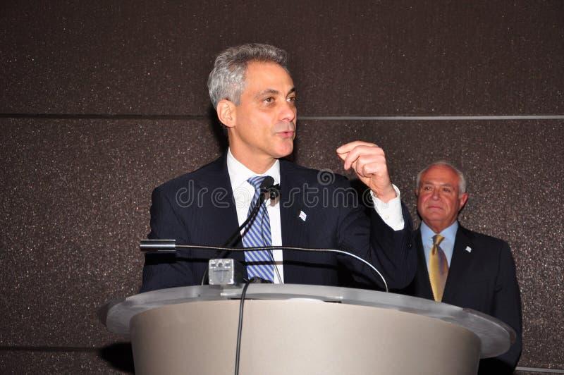 Chicagowski Mayor Rahm Emanuel obraz royalty free