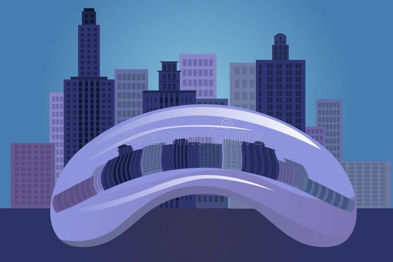 Chicagowski miasto royalty ilustracja