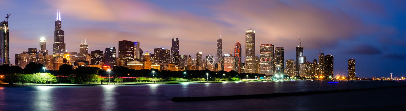 Chicagowski pętli linia horyzontu obraz royalty free