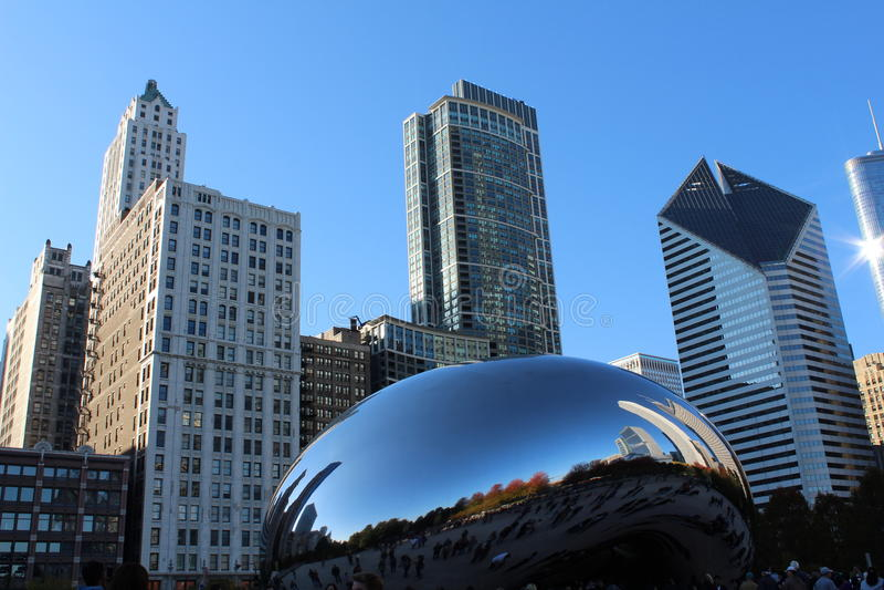 Chicagowski pejzaż miejski fotografia stock