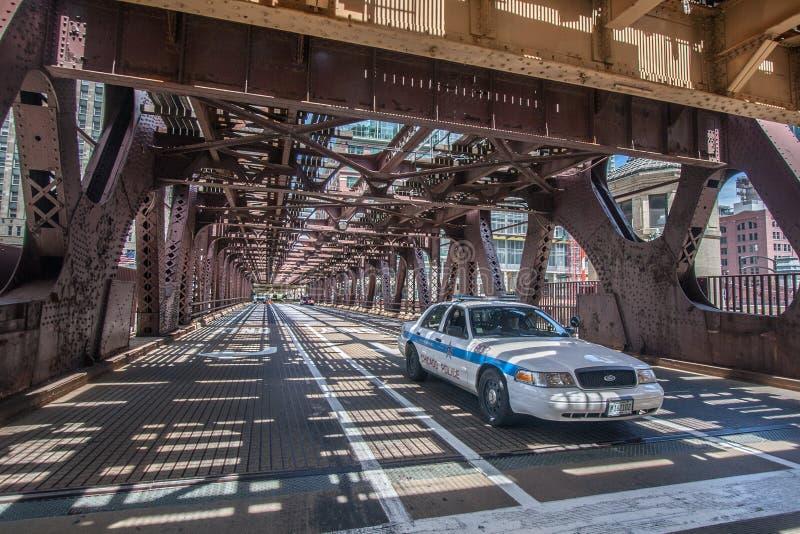 Chicagowski samochód policyjny fotografia stock
