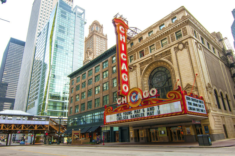 Chicagowski teatr zdjęcie royalty free
