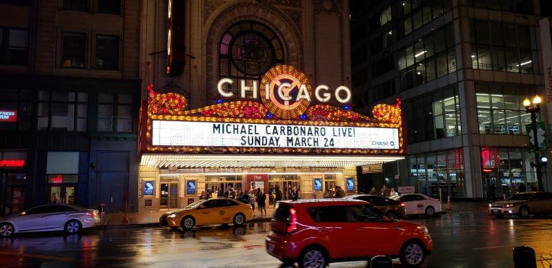 Chicagowski teatru Signage zdjęcie royalty free