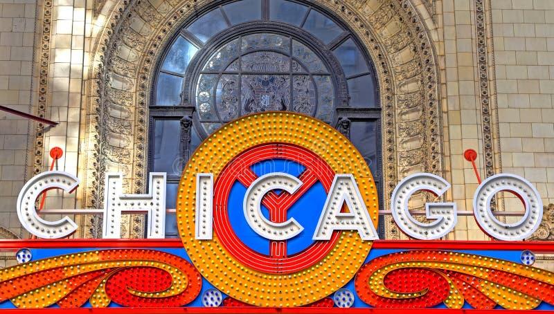 Chicagowski Theatre w Chicago, Illinois obraz stock