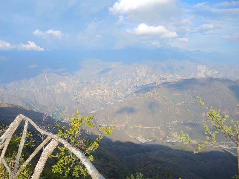 Chicamocha峡谷。 库存照片