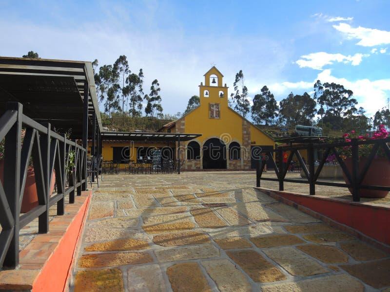 Chicamocha峡谷的公园。 图库摄影