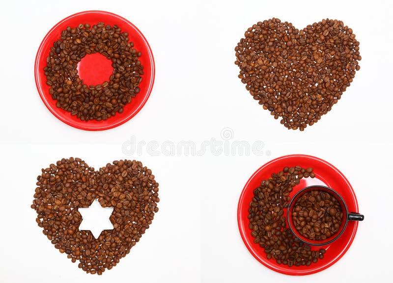 Chicchi di caffè fotografie stock