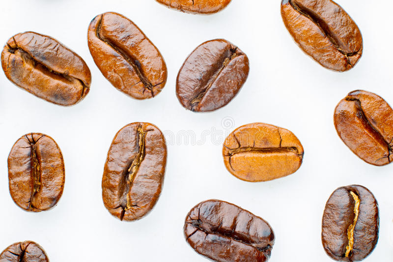 Chicchi di caffè arrostiti immagini stock