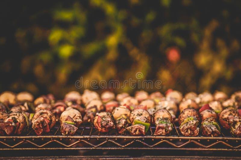 Chiche-kebab de BBQ photographie stock
