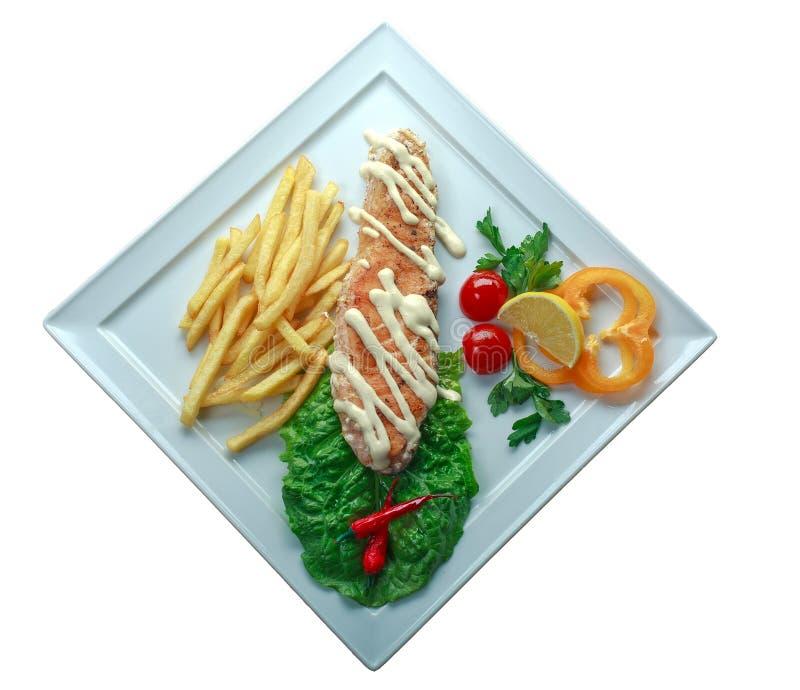 Chiche-kebab de Doner d'une plaque photo stock
