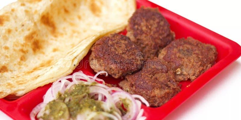 Chiche-kebab somptueux et délicieux de Galawati dans la capitale de chiche-kebab du monde images libres de droits