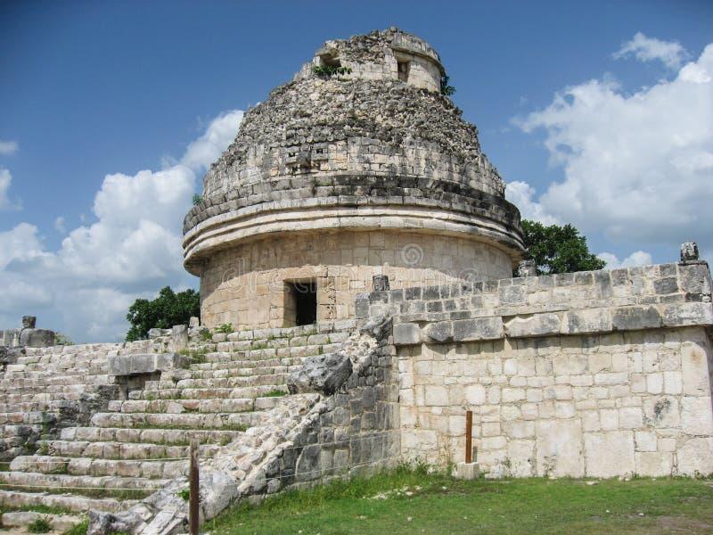 chichen обсерватория Мексики itza стоковые изображения rf