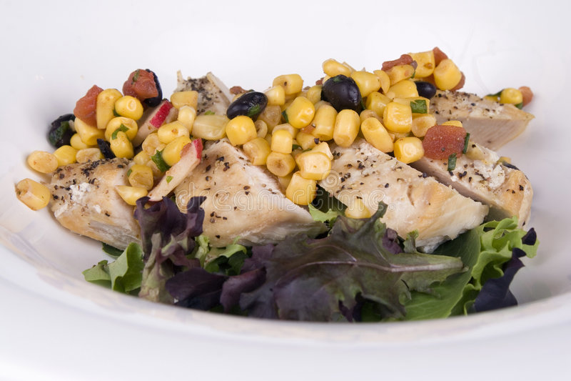 Download Chichen Breast On Greens Stock Images - Image: 1409144