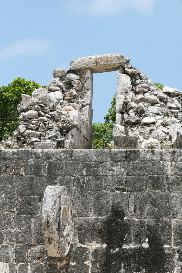 Download Chichen Itza Ball Court stock image. Image of stone, donut - 3216189