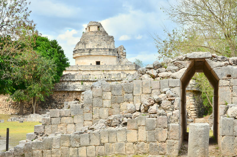 Chichen Itza - EL Caracol - observatorio fotografía de archivo libre de regalías