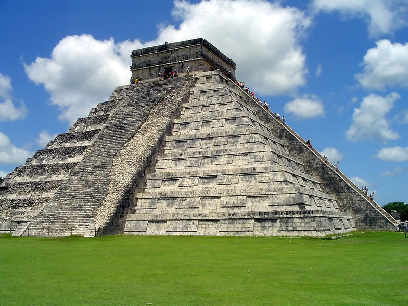 Chichen itza el castillo. El Castillo, Chichen Itza, Yucatan, Mexico royalty free stock photography