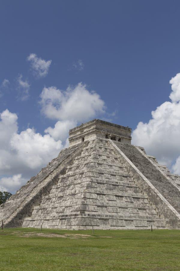 Chichen Itza el castillo Kukuklan Temple,acient culture,Mexico royalty free stock image