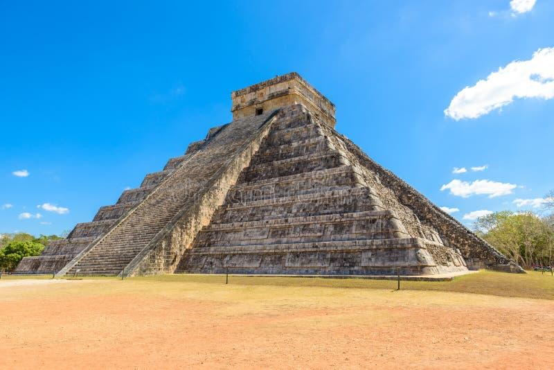 Chichen Itza - El Castillo Pyramid - Ancient Maya Temple Ruins in Yucatan, Mexico stock images