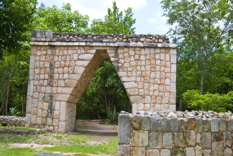 Chichen Itza entrance stock photos