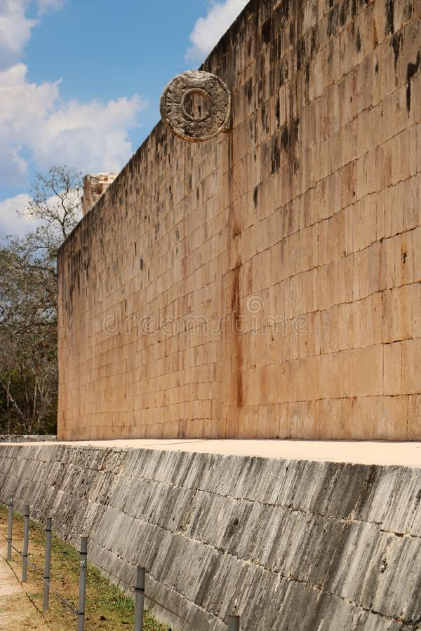 Chichen Itza The Grand Ball Court. He Grand Ball Court, a part of the Maya Chichen Itza archaeological site in the Mexican state of Yucatan. There are over 1,300 royalty free stock images