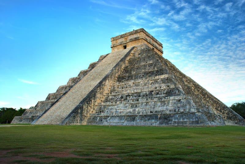 chichen itza kukulcan Mexico ostrosłup obraz stock