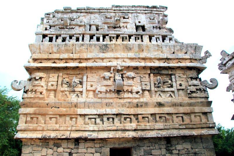 Chichen Itza le temple maya Mexique d'église photographie stock