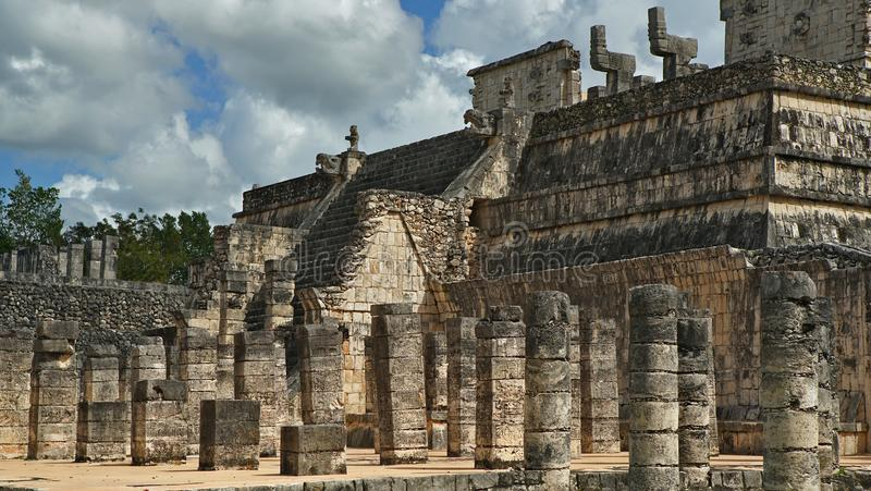 Chichen Itza, Mayan Piramide in Yucatan, Mexico Het ` s één van royalty-vrije stock afbeelding