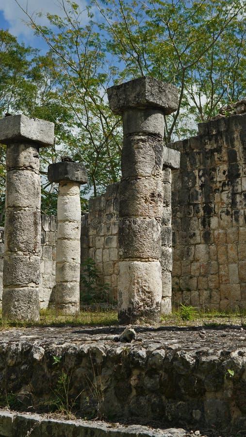 Chichen Itza, Mayan Piramide in Yucatan, Mexico Het ` s één van royalty-vrije stock foto's