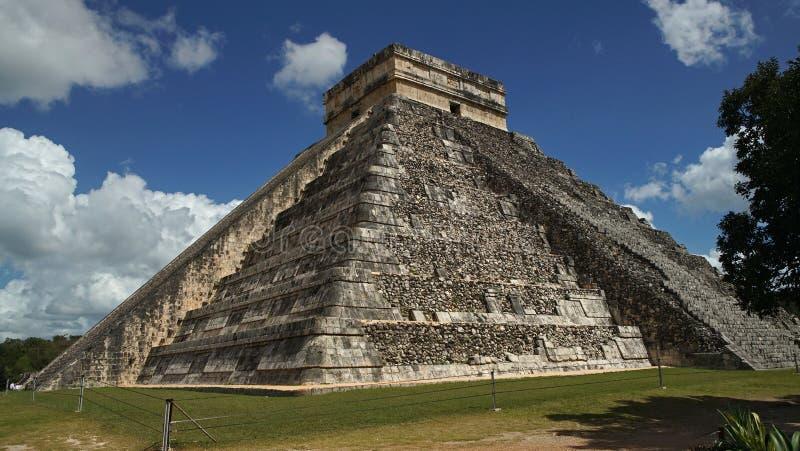 Chichen Itza, Mayan Piramide in Yucatan, Mexico Het ` s één van royalty-vrije stock afbeeldingen